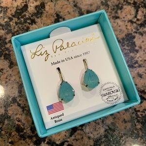 Liz Palacio Green Swarovski Drop Earrings